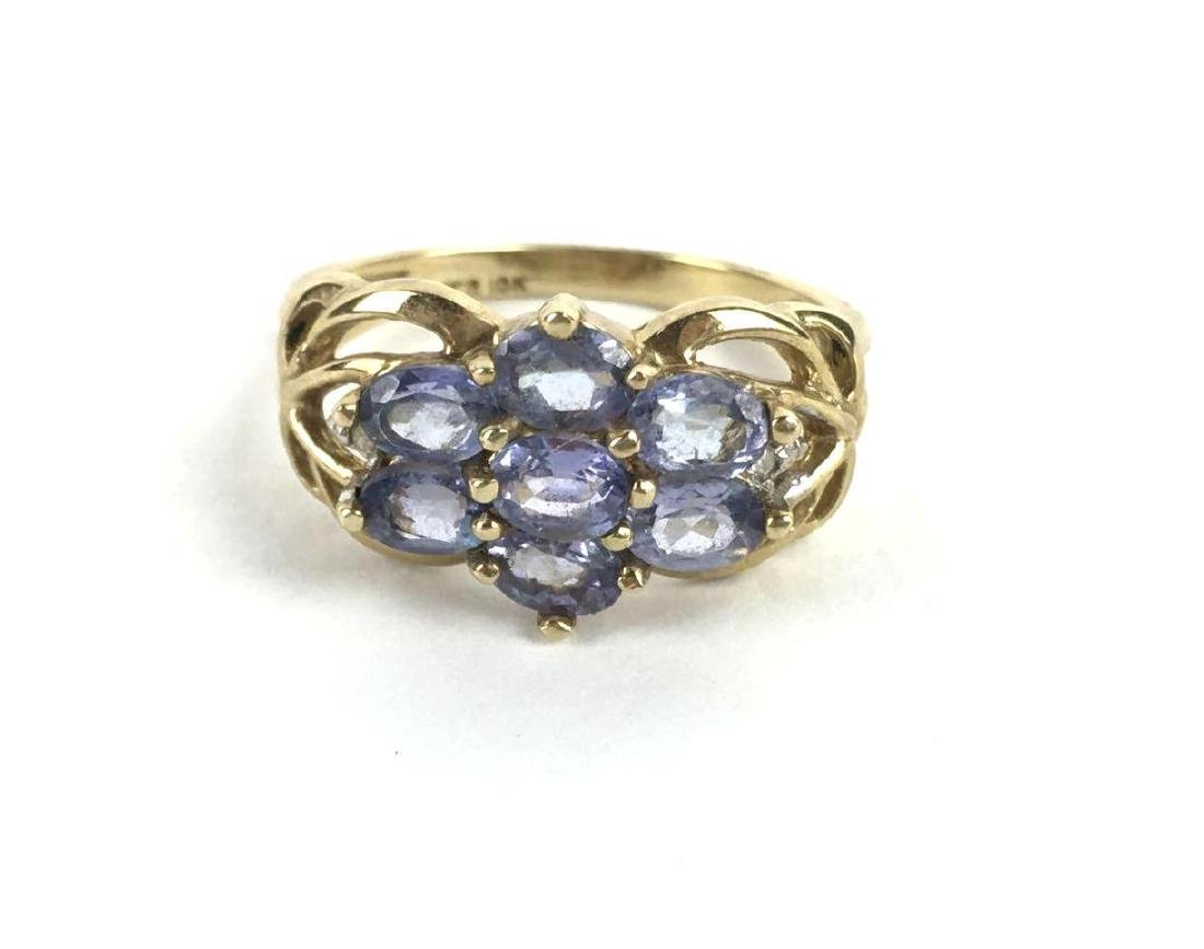14k Gold John C Rinker Cluster Ring
