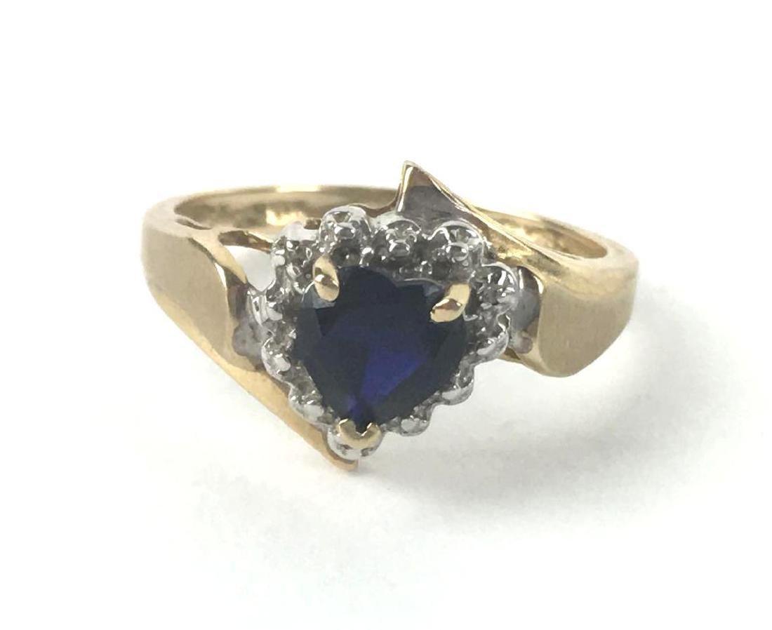 10k Gold Heart Cut Ring