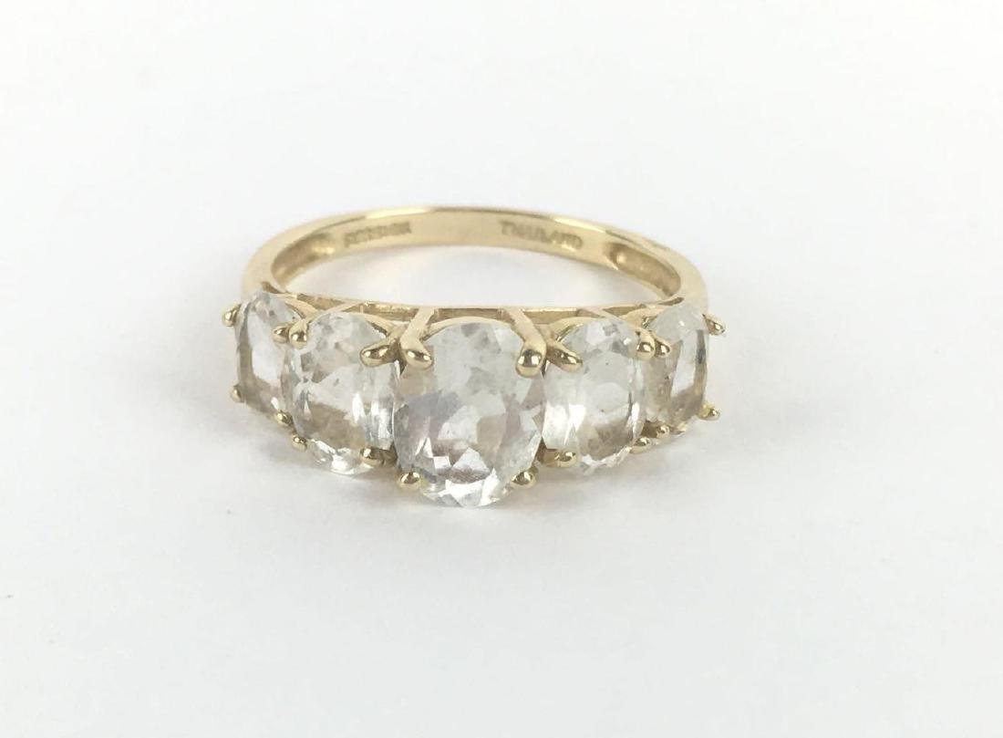 10k Gold 5 Stone Prong Set Ring