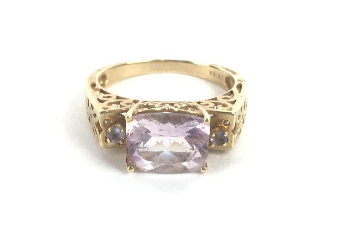 10k Gold Emerald Cut Ring