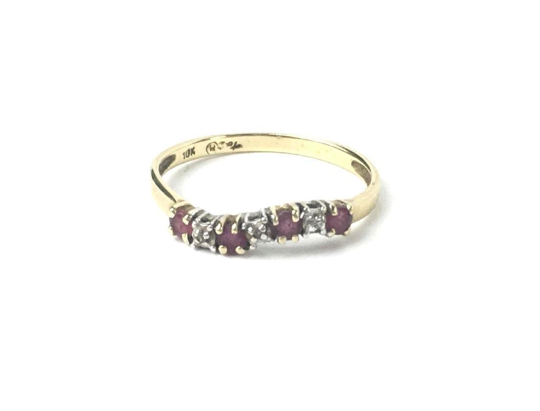 10k Gold Curved Pave Style Ring