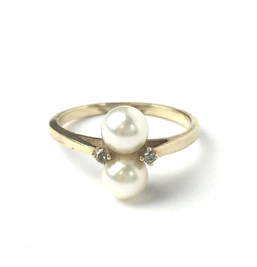 10k Gold Stacking Pearl Ring