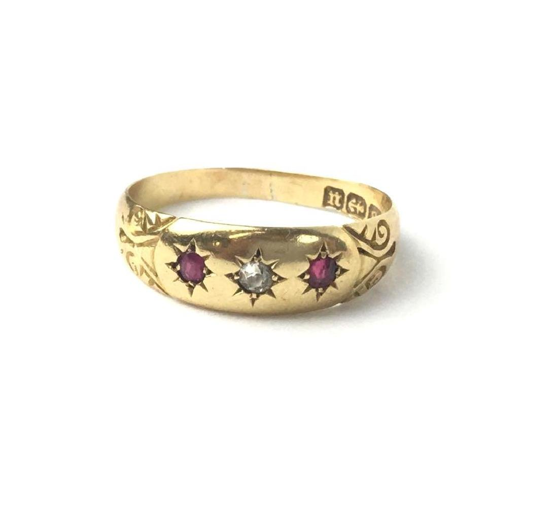 18k Gold Gypsy Ring