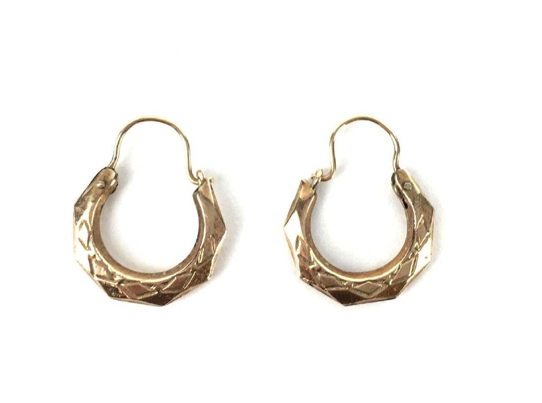 Small Gold Filled Octagon Hoops