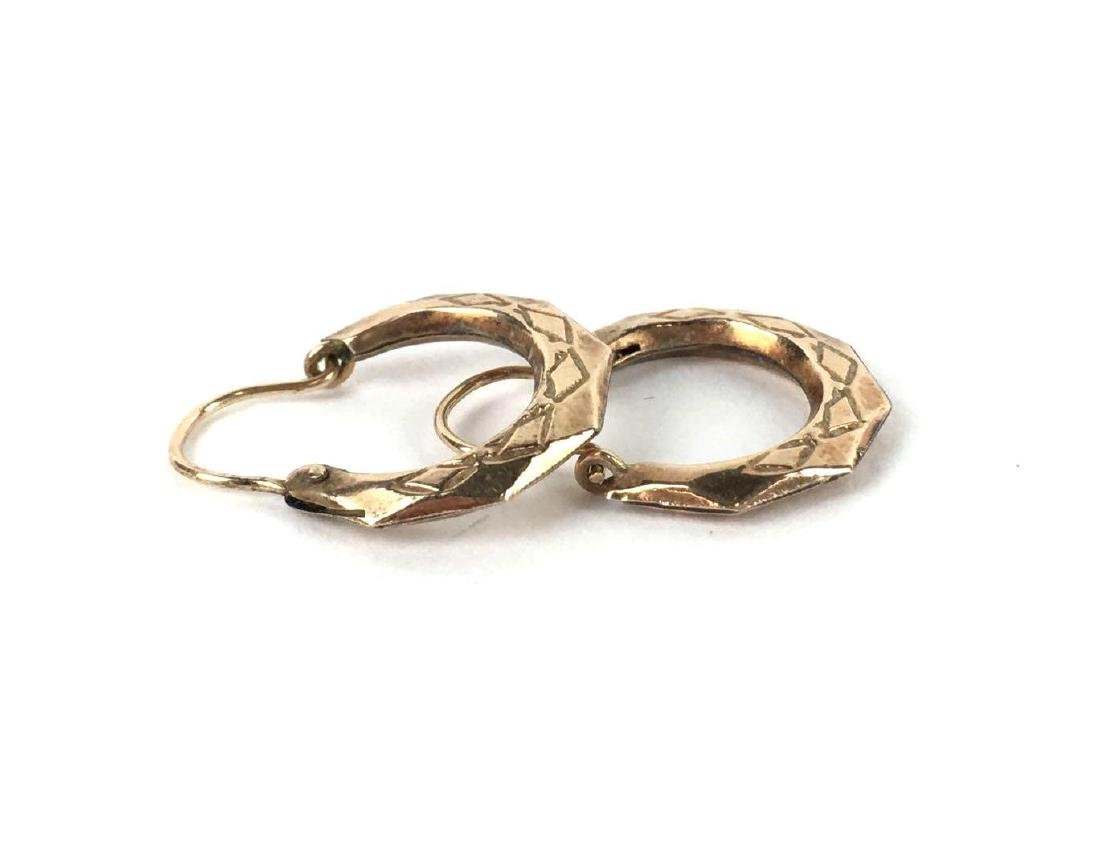 Small Gold Filled Octagon Hoops - 2