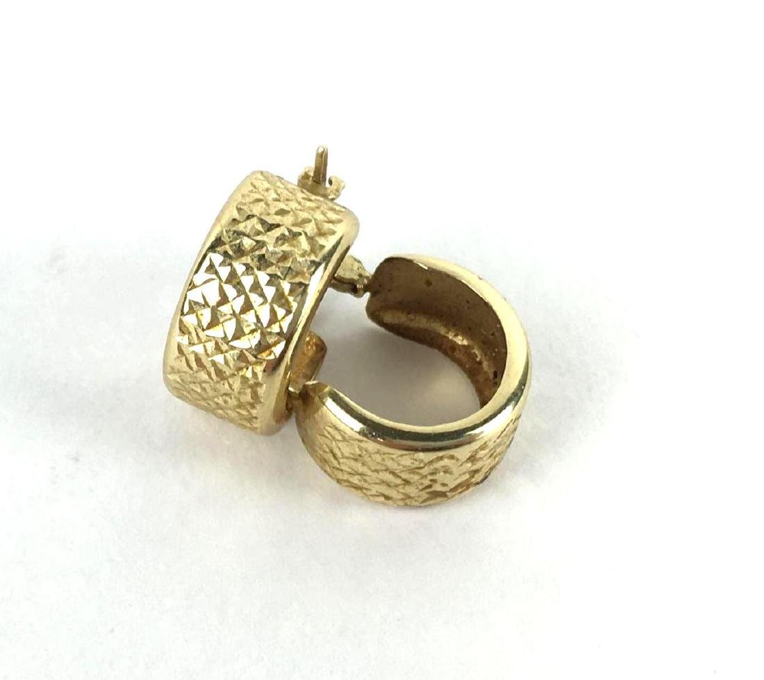 Small 14k Gold Chunky Hoops