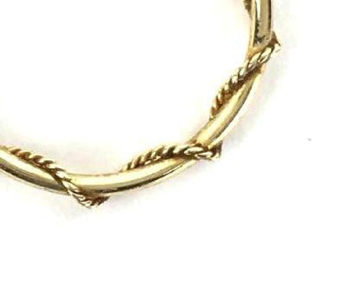 14k Gold Rope Hoop Earrings - 3