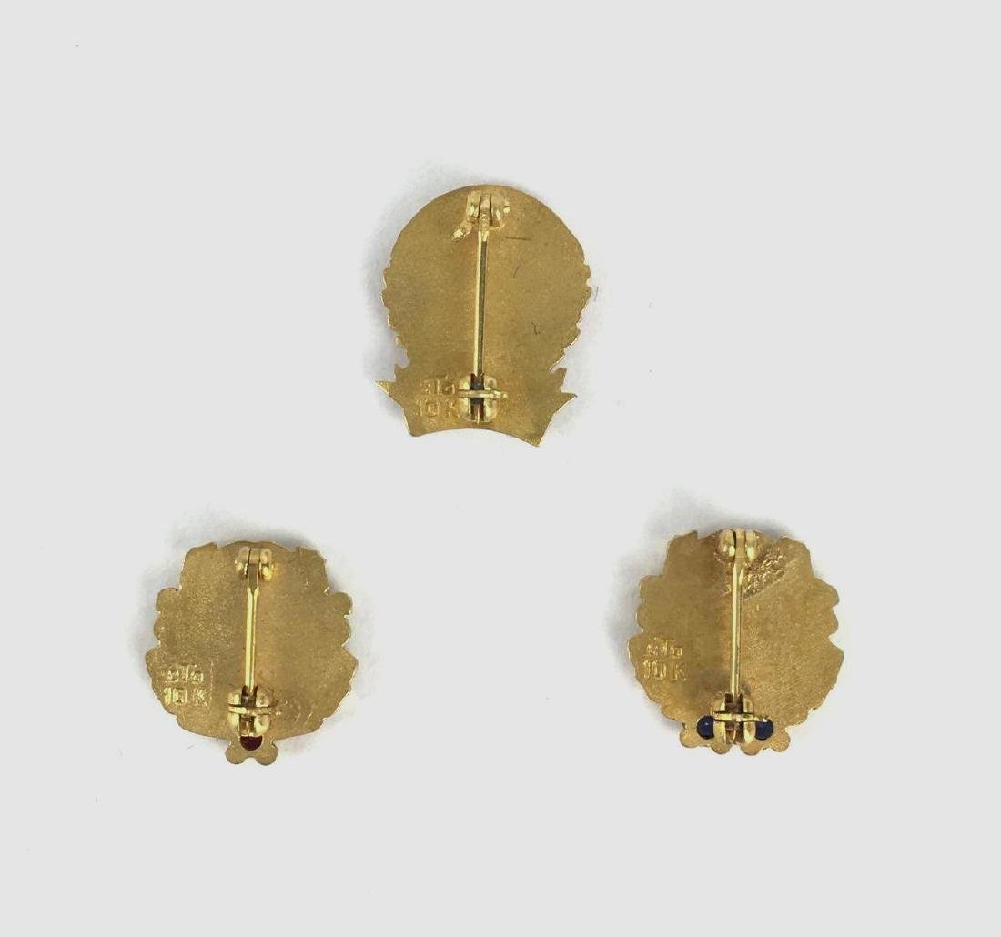 Lot of 3 10k Gold Enamel Pins - 2