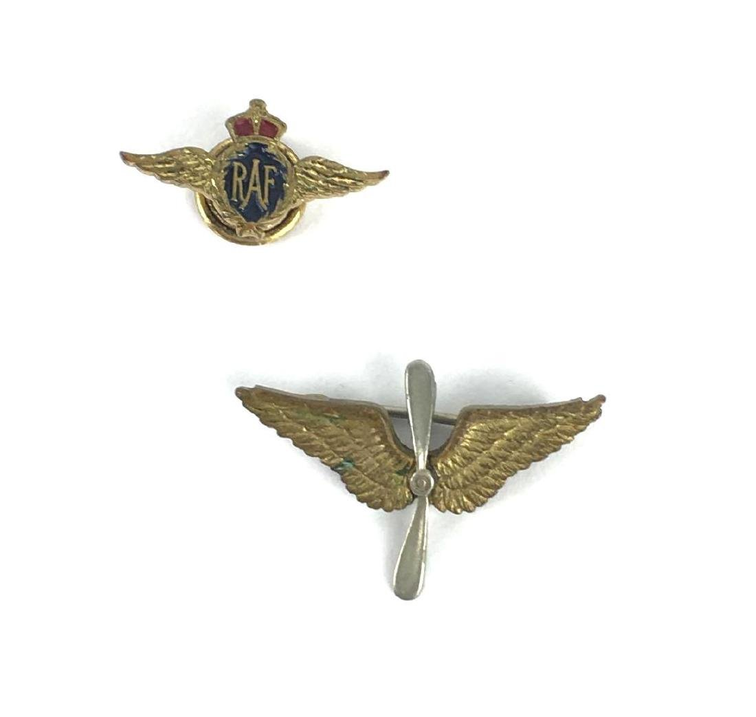 Lot of 2 Vintage Aircraft Pins