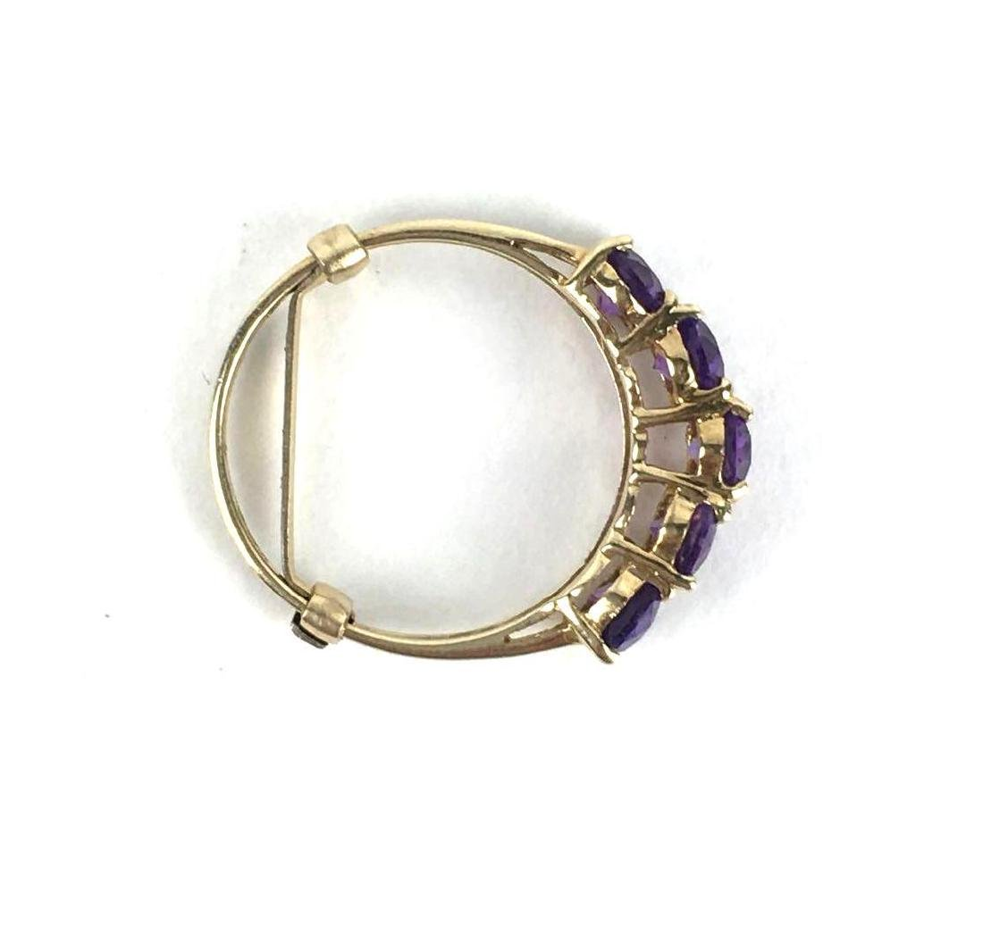 10k Gold Ring With Counter Lock Ring Guard - 2