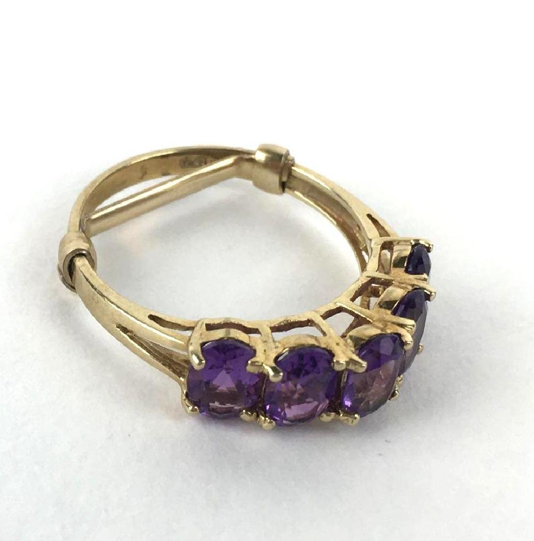 10k Gold Ring With Counter Lock Ring Guard - 3