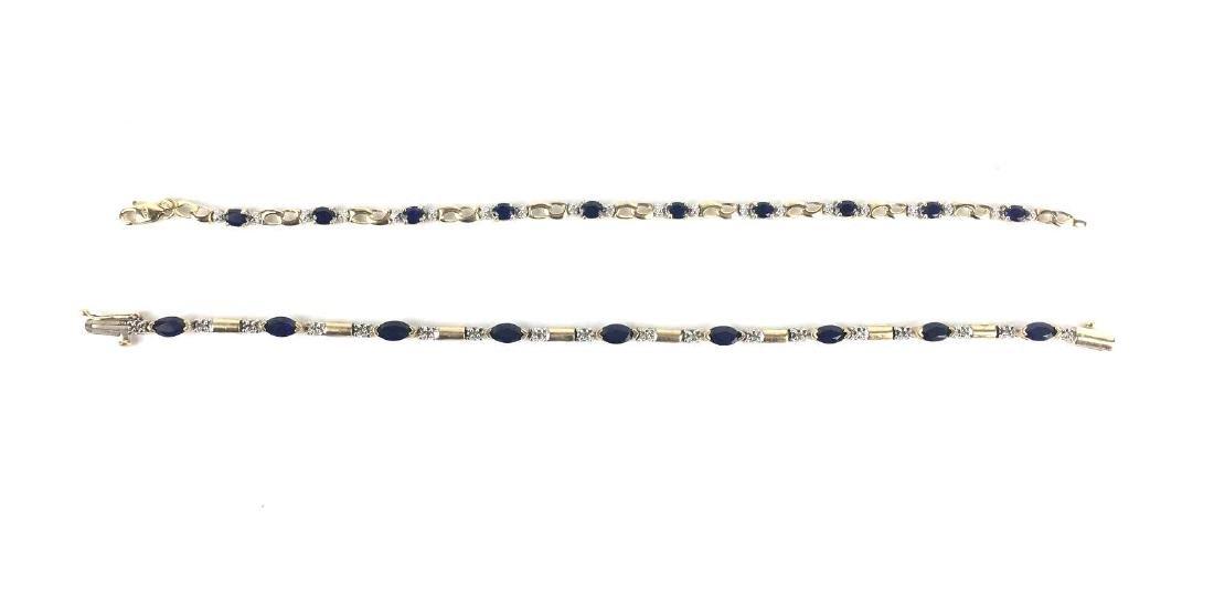 Lot of 2 10k Gold Link Bracelets