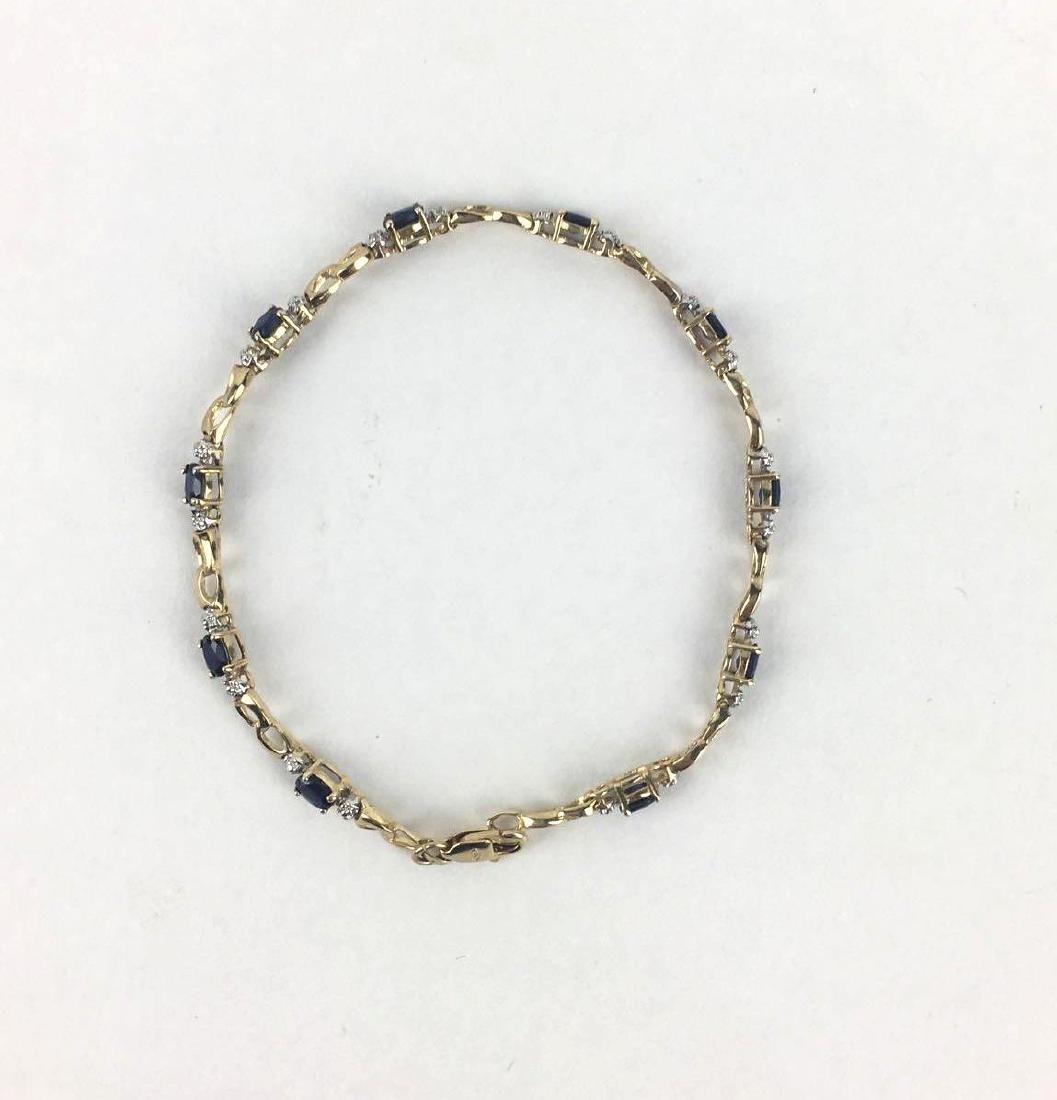 Lot of 2 10k Gold Link Bracelets - 2