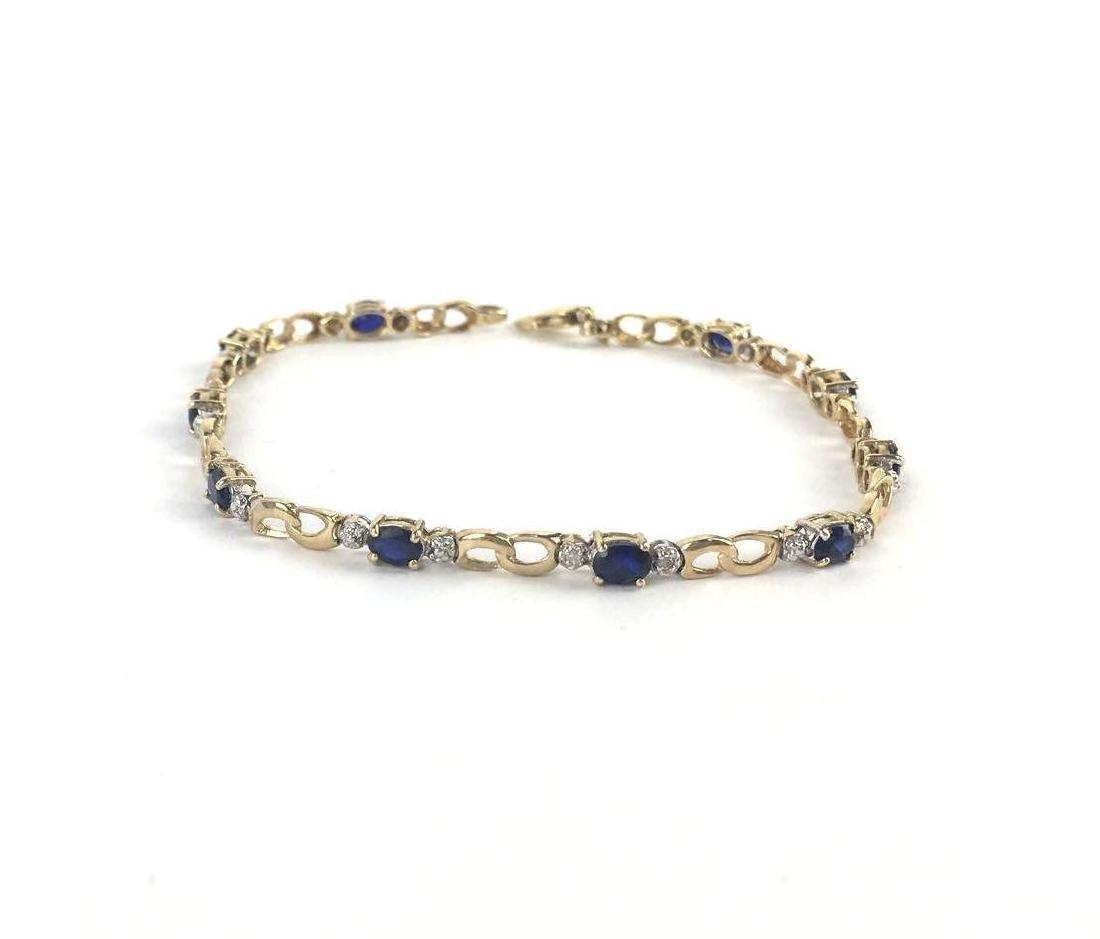 Lot of 2 10k Gold Link Bracelets - 3