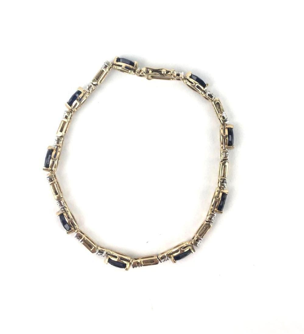 Lot of 2 10k Gold Link Bracelets - 4