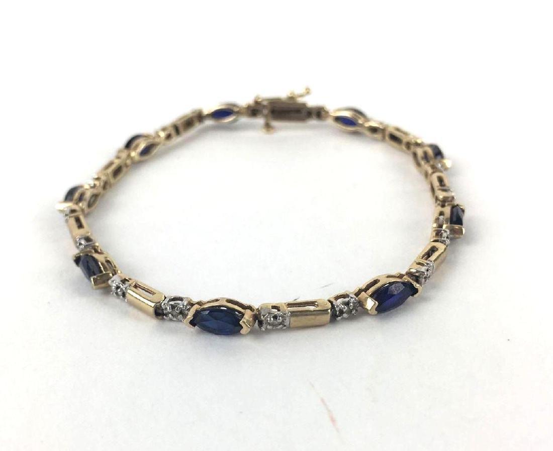 Lot of 2 10k Gold Link Bracelets - 5
