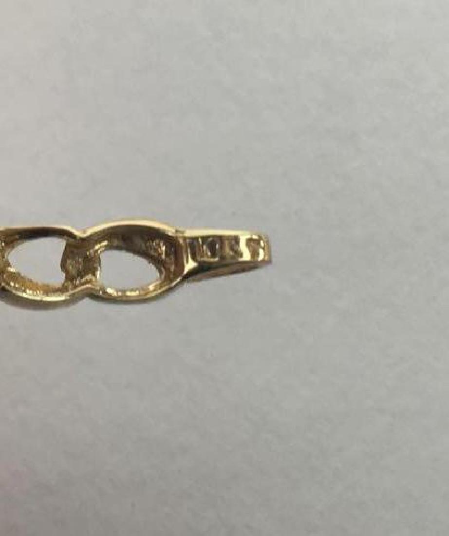 Lot of 2 10k Gold Link Bracelets - 9