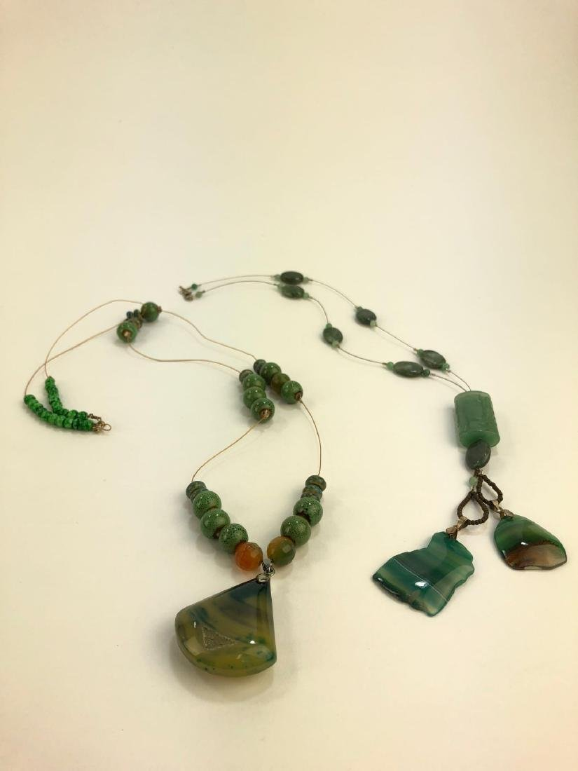 Two Agate and Stone Necklaces