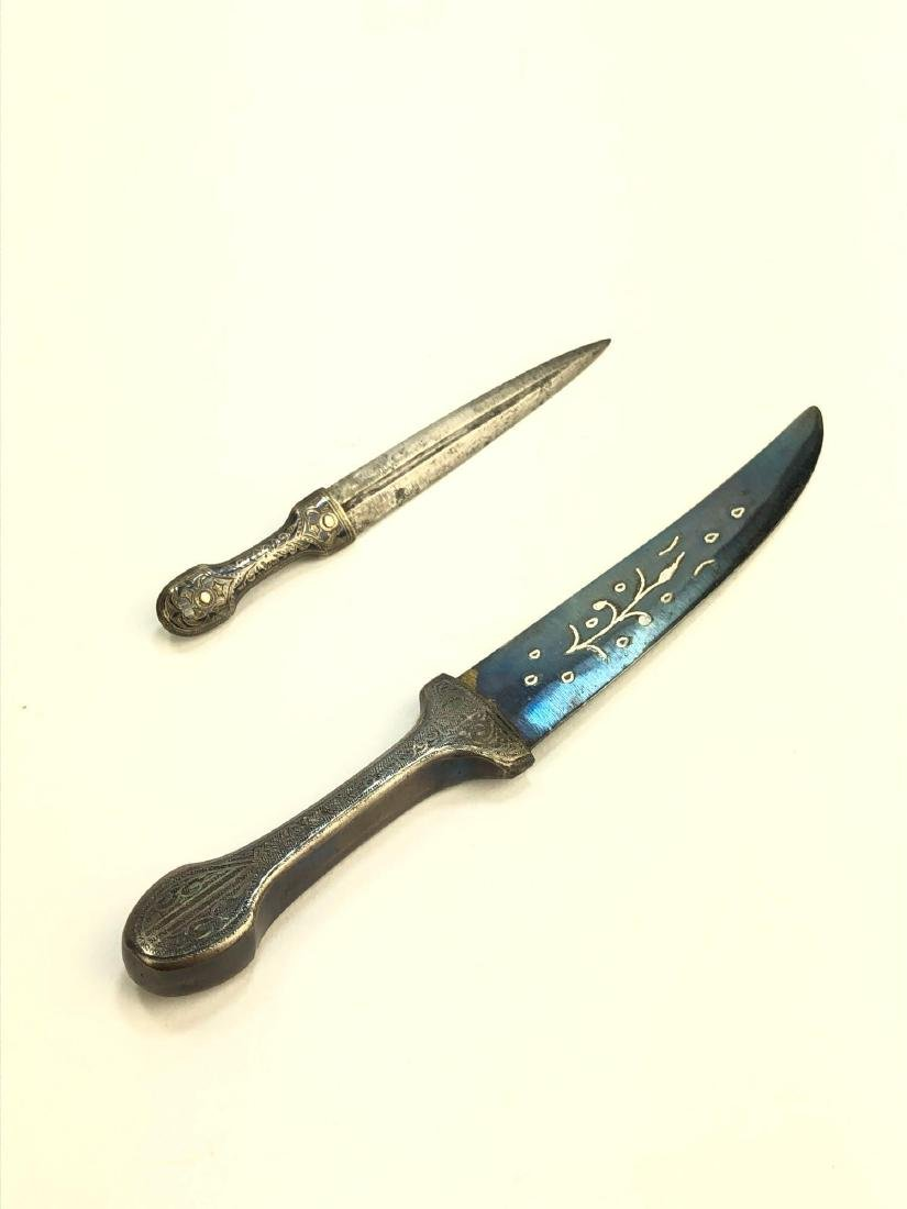 Pair of Etched Kirpan Knives - 3