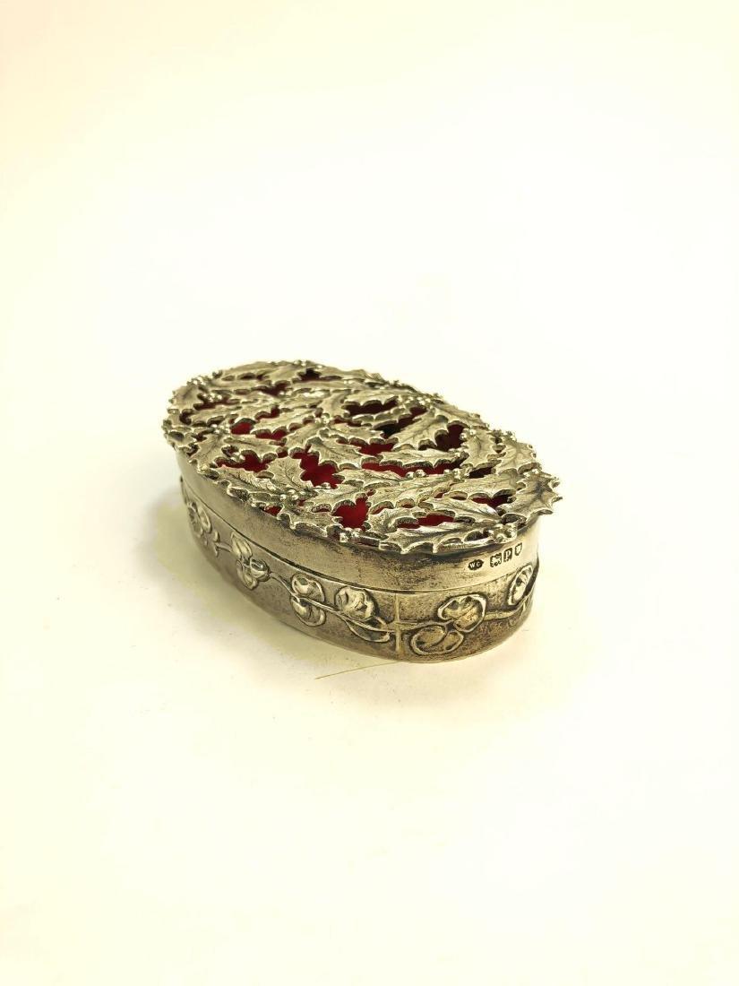 Antique English Sterling Silver Trinket Box