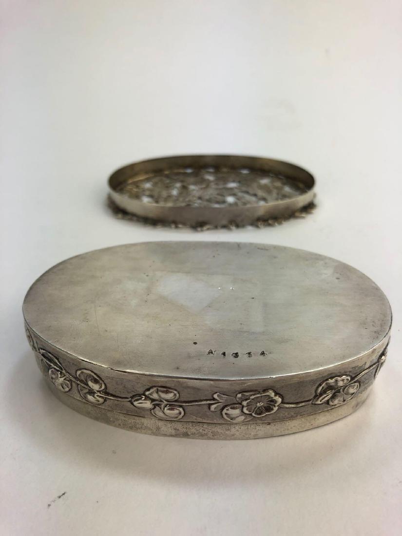 Antique English Sterling Silver Trinket Box - 4