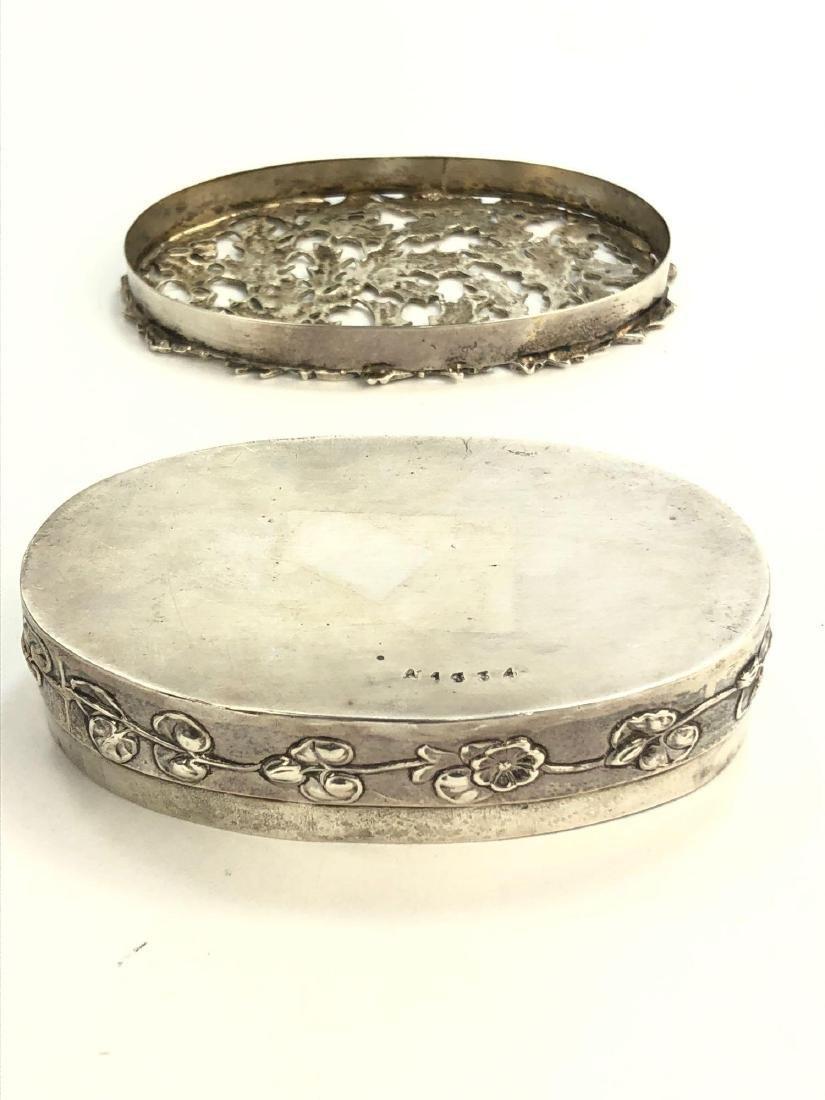 Antique English Sterling Silver Trinket Box - 5