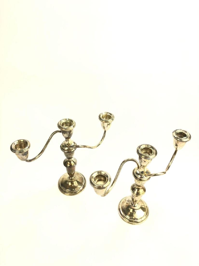 Empire Weighted Sterling Candlestick Pair