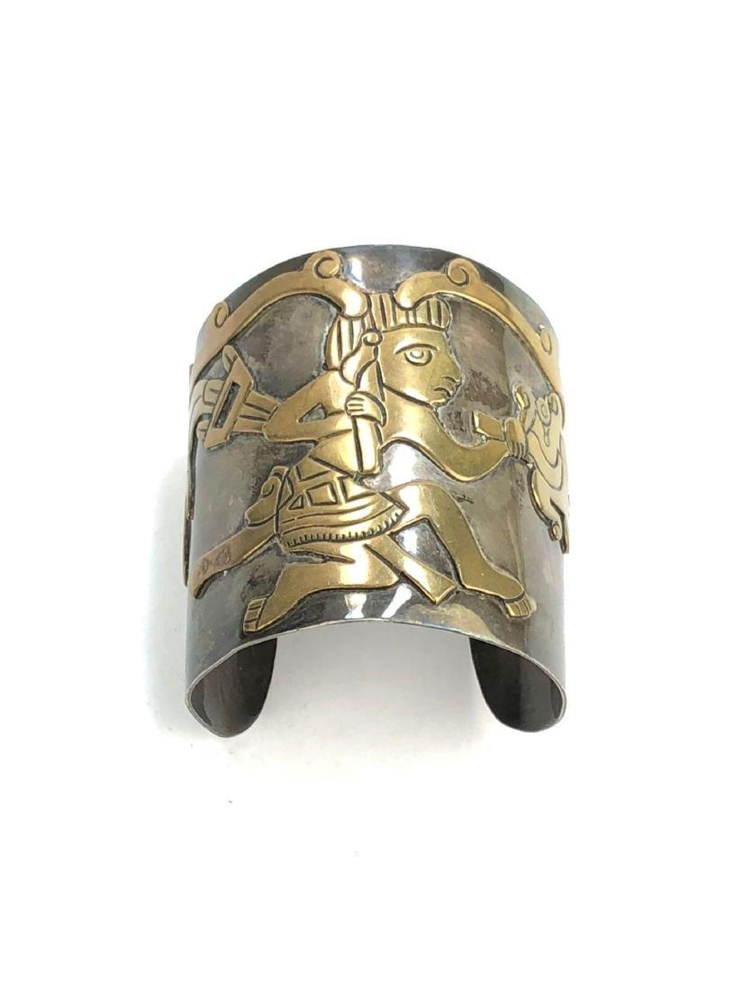 Los Castillo Taxco Mexican Sterling Silver Cuff