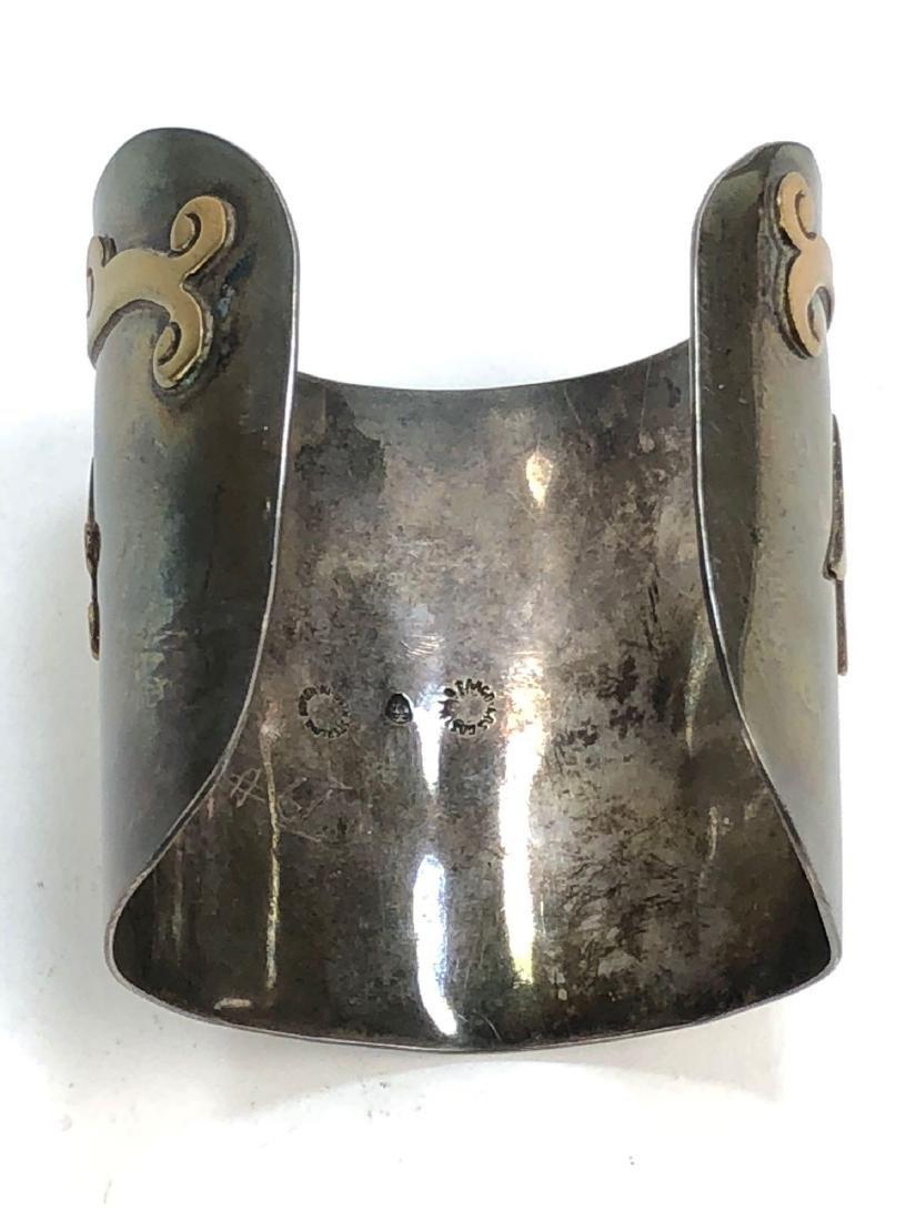 Los Castillo Taxco Mexican Sterling Silver Cuff - 2