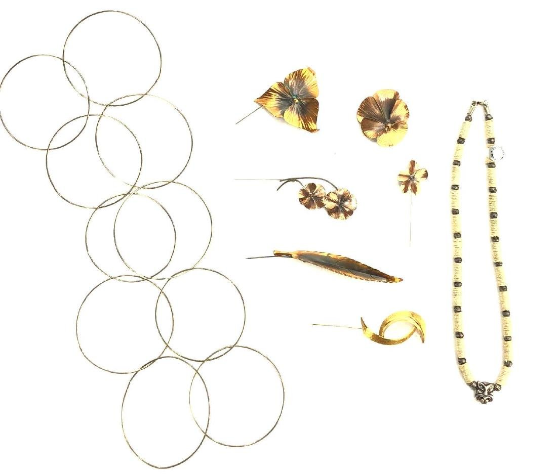 Assorted Metal Costume Jewelry