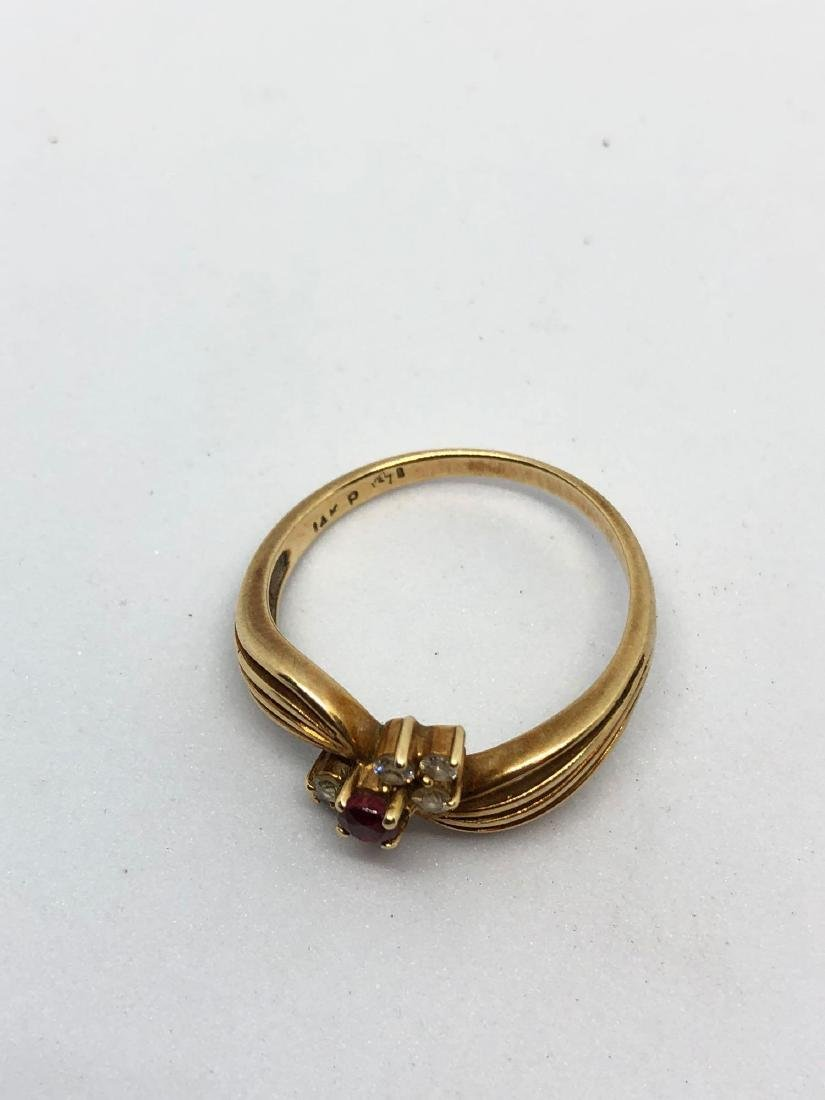 14k Gold Multi Strand Ring - 5