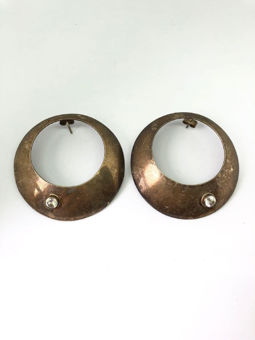 Pair of Mexican Sterling Silver Earrings by Alicia