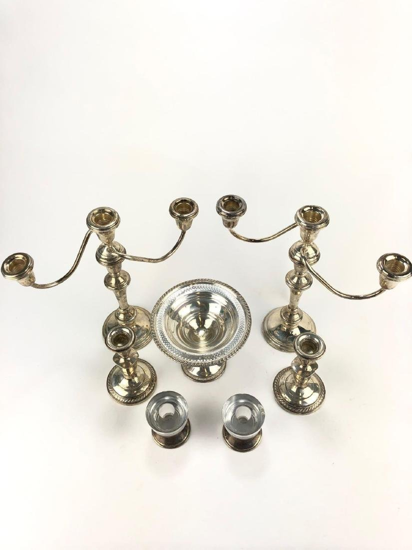 Lot of Seven Pieces of Weighted Sterling Silver Table - 4