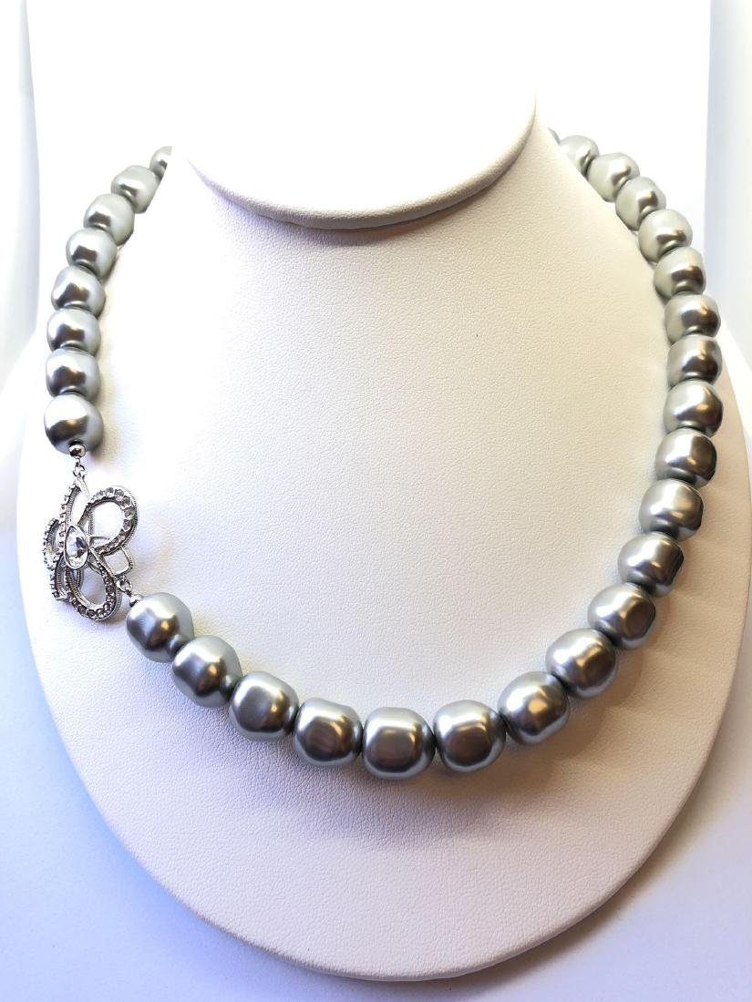 Lot of One Swarovski Crystal Pearl Necklace
