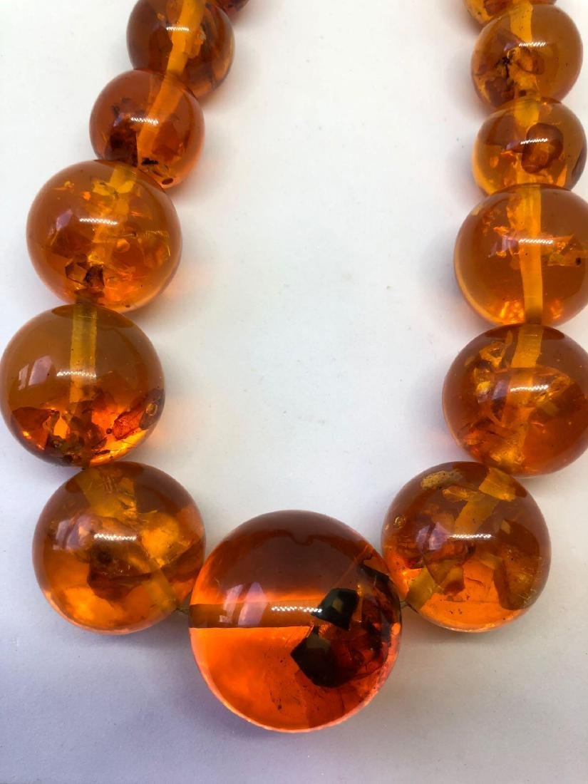 Lot of One Baltic Honey Amber Beaded Necklace - 4