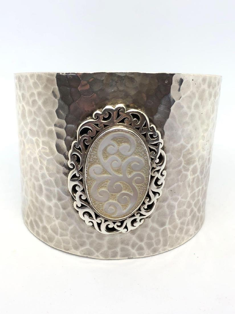 Lot of One Lois Hill Hammered Sterling Silver Cuff