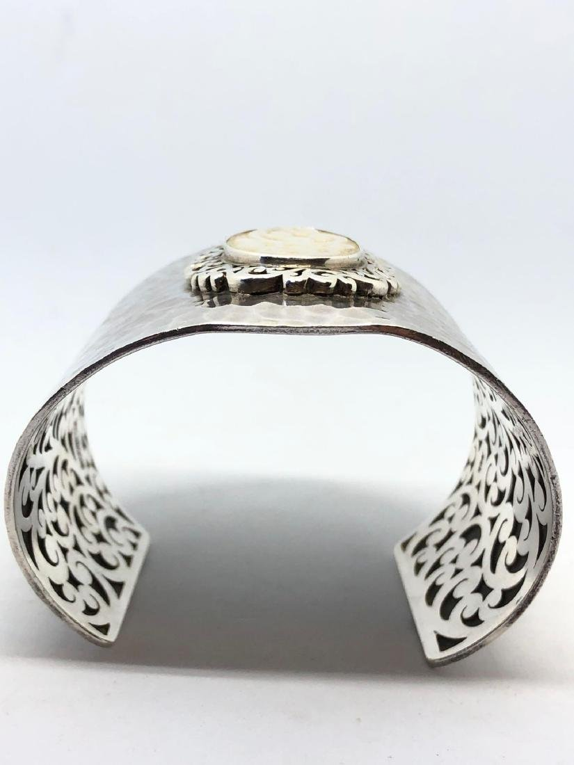 Lot of One Lois Hill Hammered Sterling Silver Cuff - 3