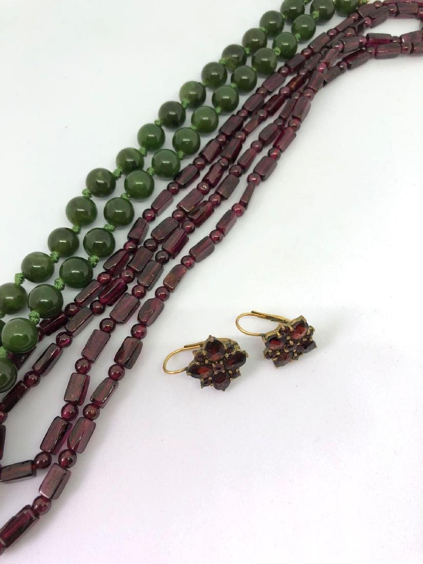 Vintage Necklaces (Jade and Czech Glass) and Pendant