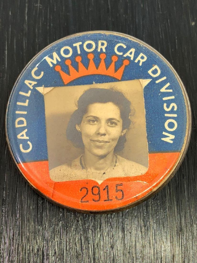 Vintage Cadillac Employee Workers Badge
