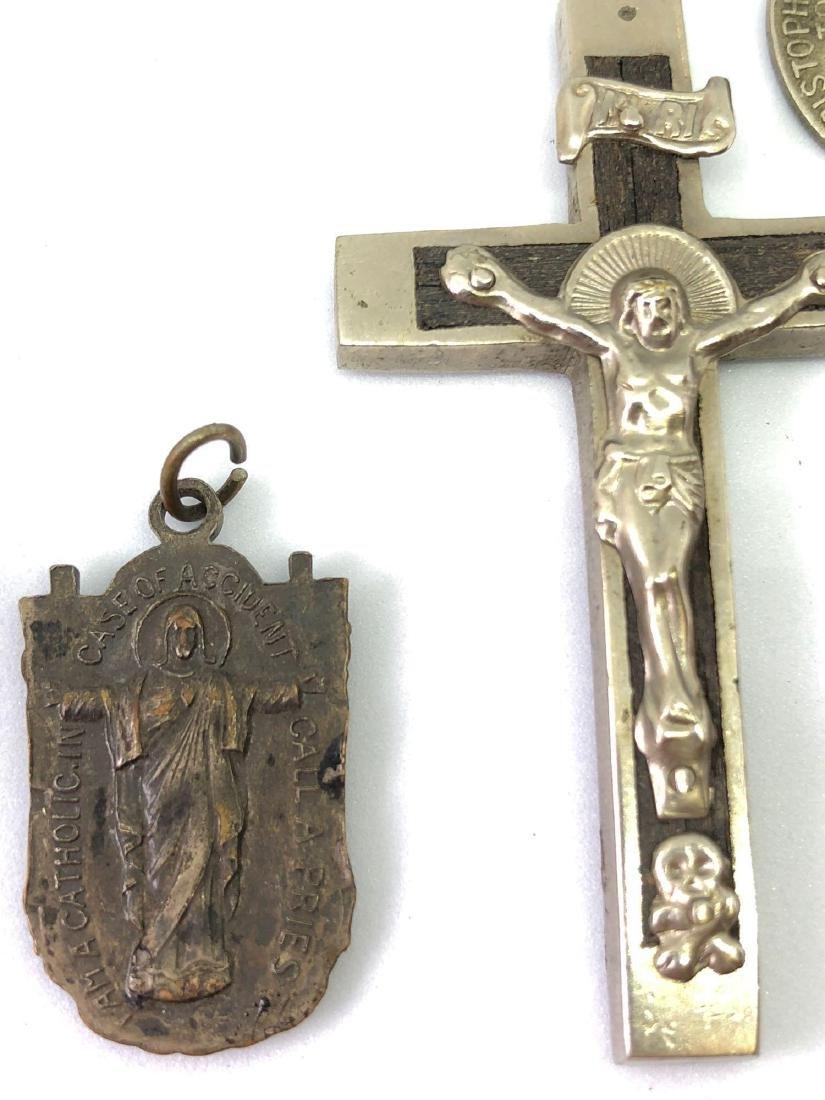 Lot of Six Vintage Religious Pendants - 2