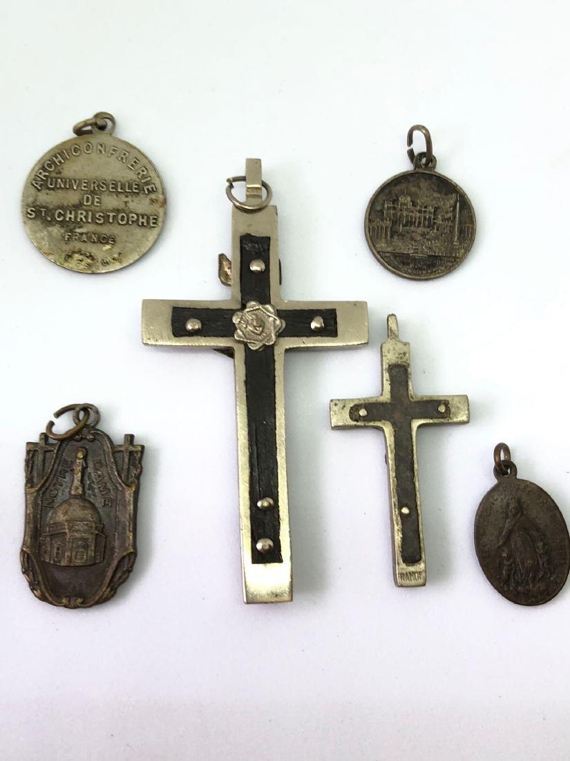 Lot of Six Vintage Religious Pendants - 5