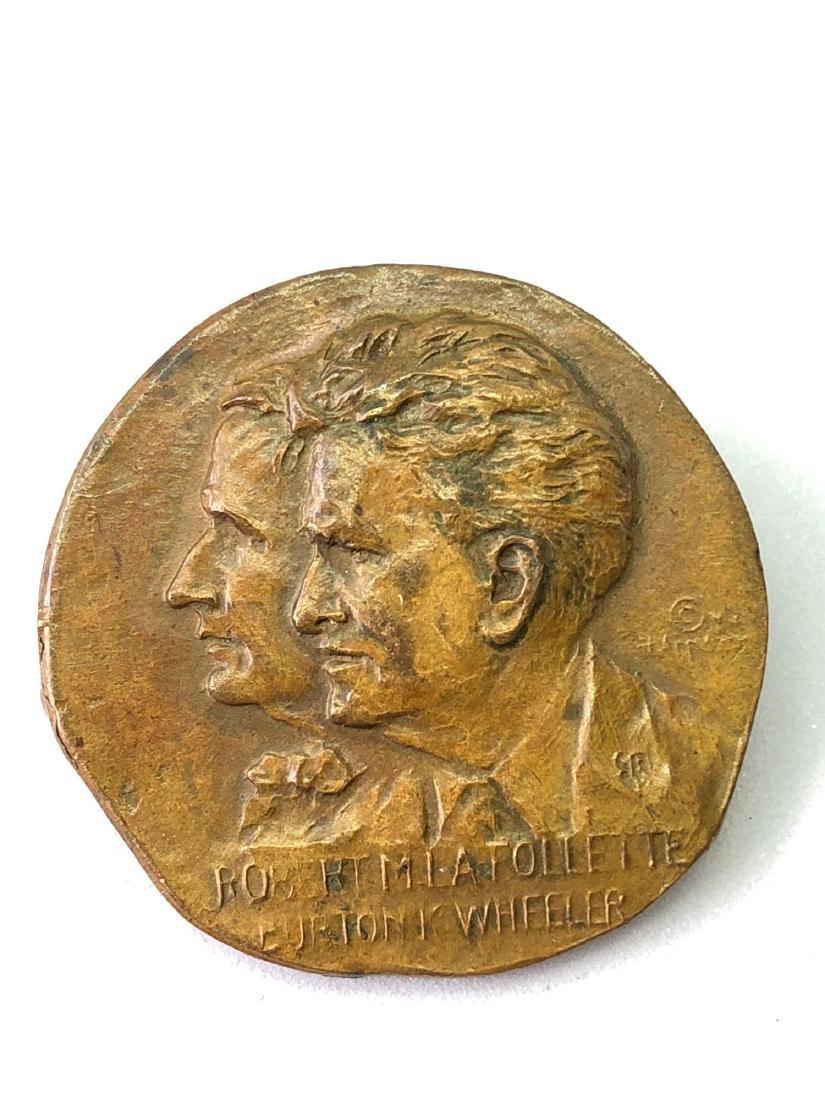 1 1924 La Follette Campaign Pin