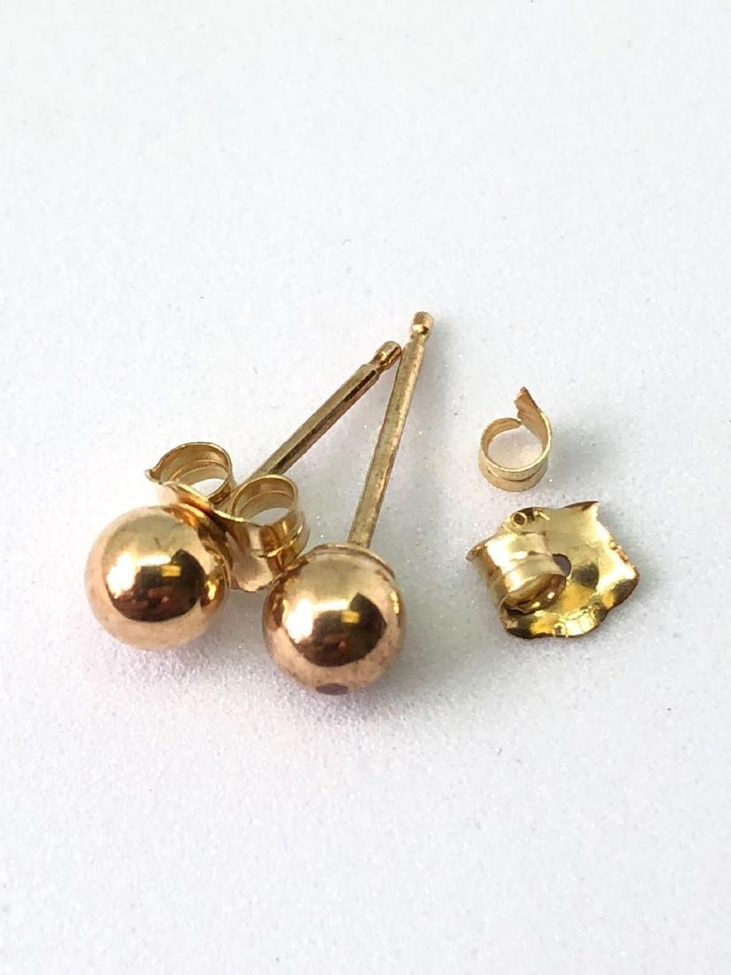 10k Gold Stud Earrings - Needs Repair