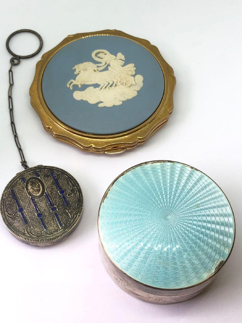 Lot of Three Vintage and Antique Compacts