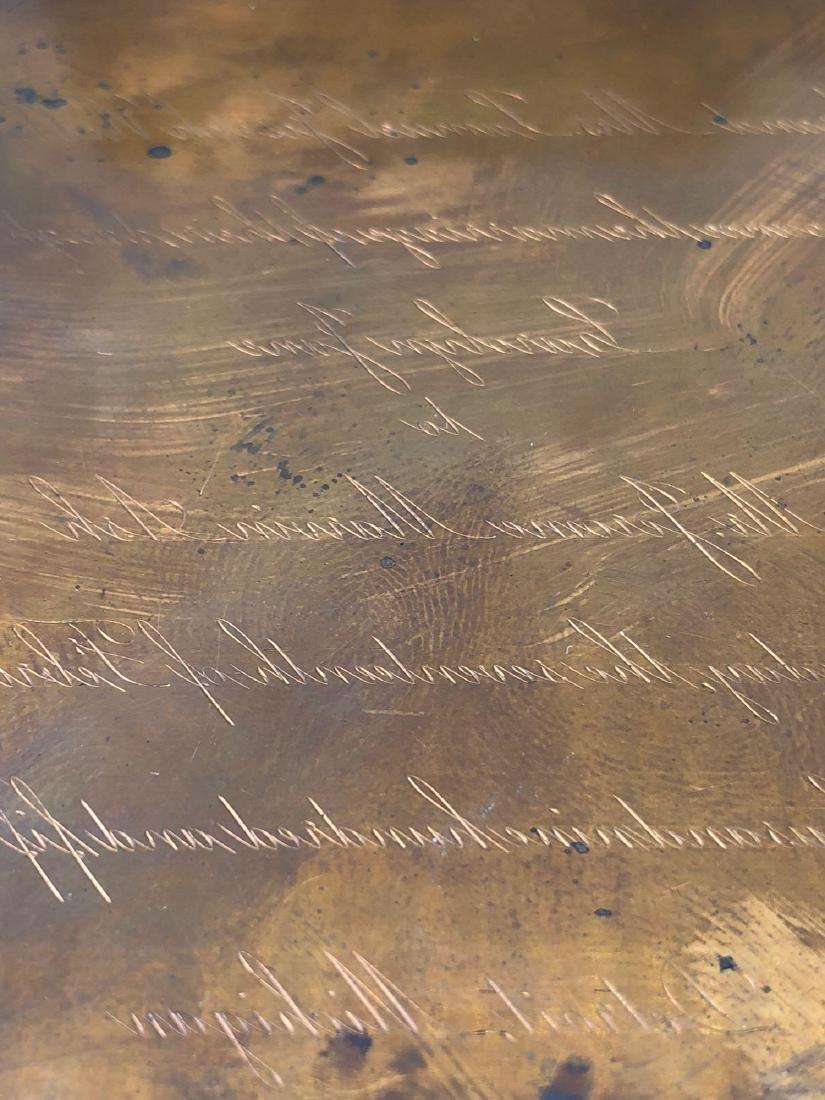 Lot of Three Tiffany Engraving Invitation Plates - 3