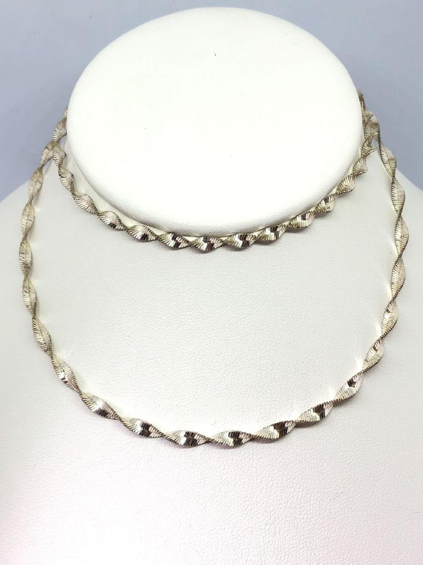 Lot of Two Sterling Silver Necklaces - 5