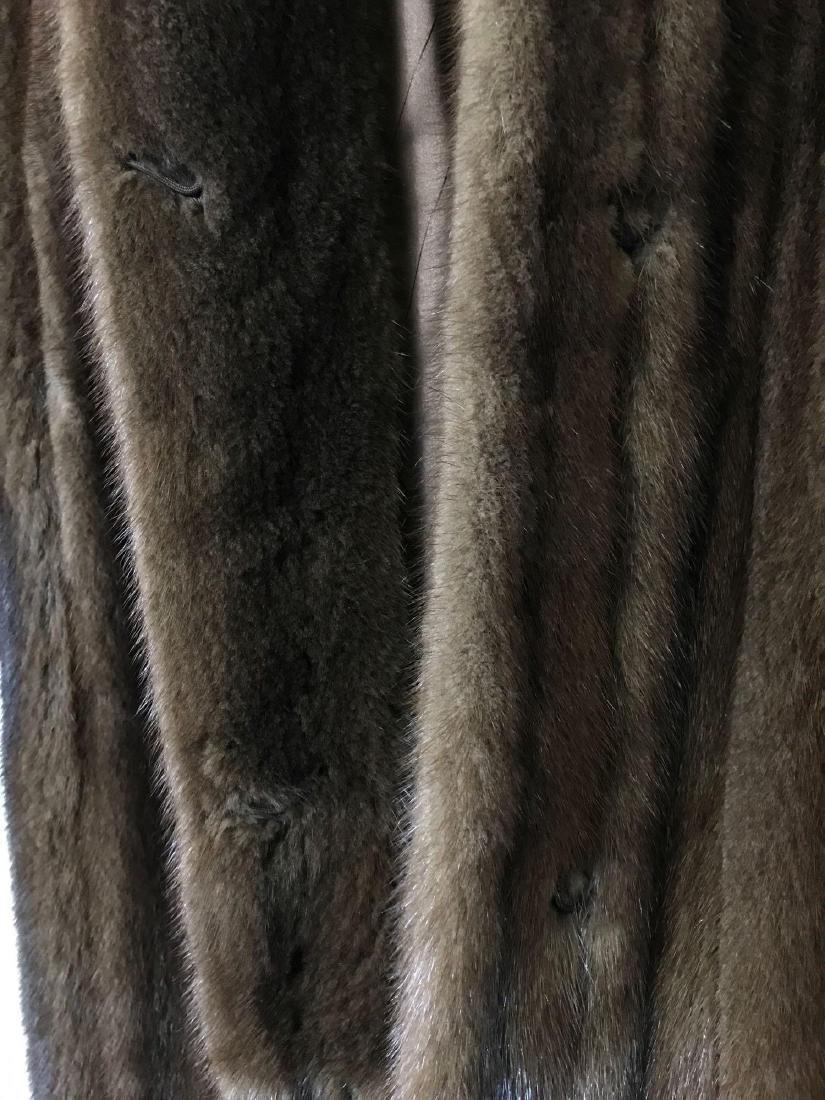 Alfred Sung Mahogany Mink Full-Length Fur Coat - 7