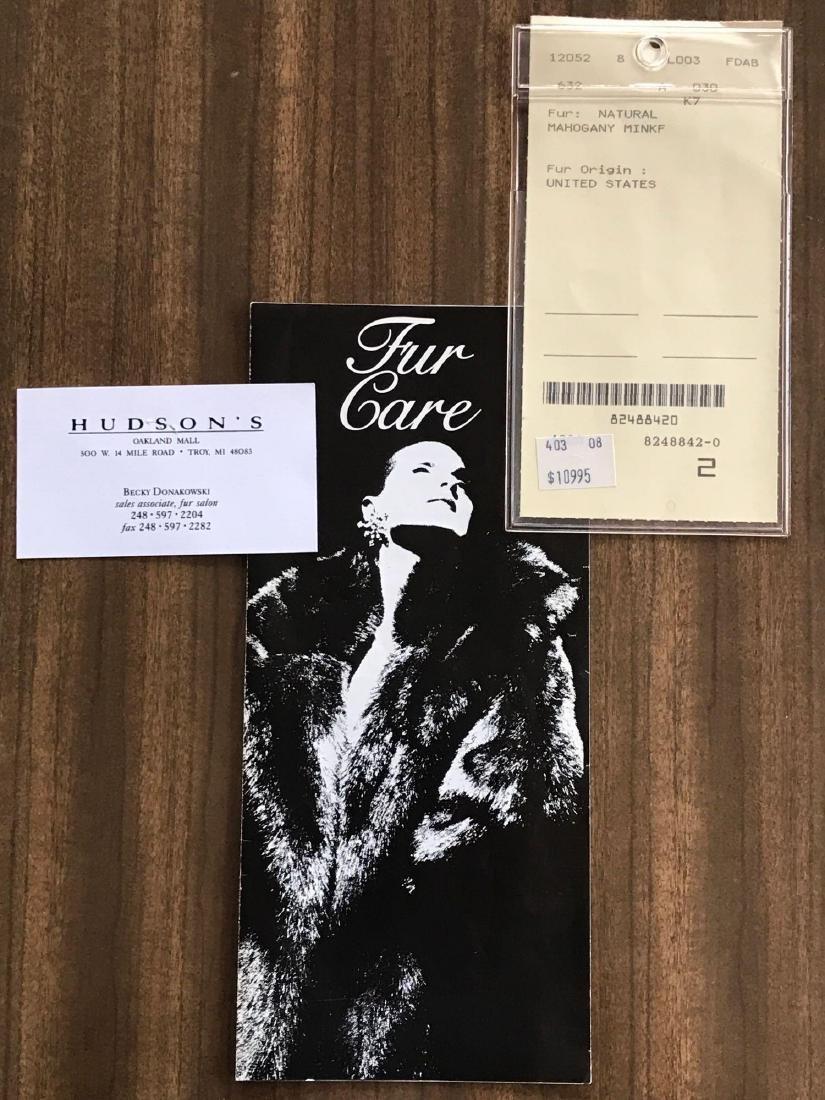 Alfred Sung Mahogany Mink Full-Length Fur Coat - 8