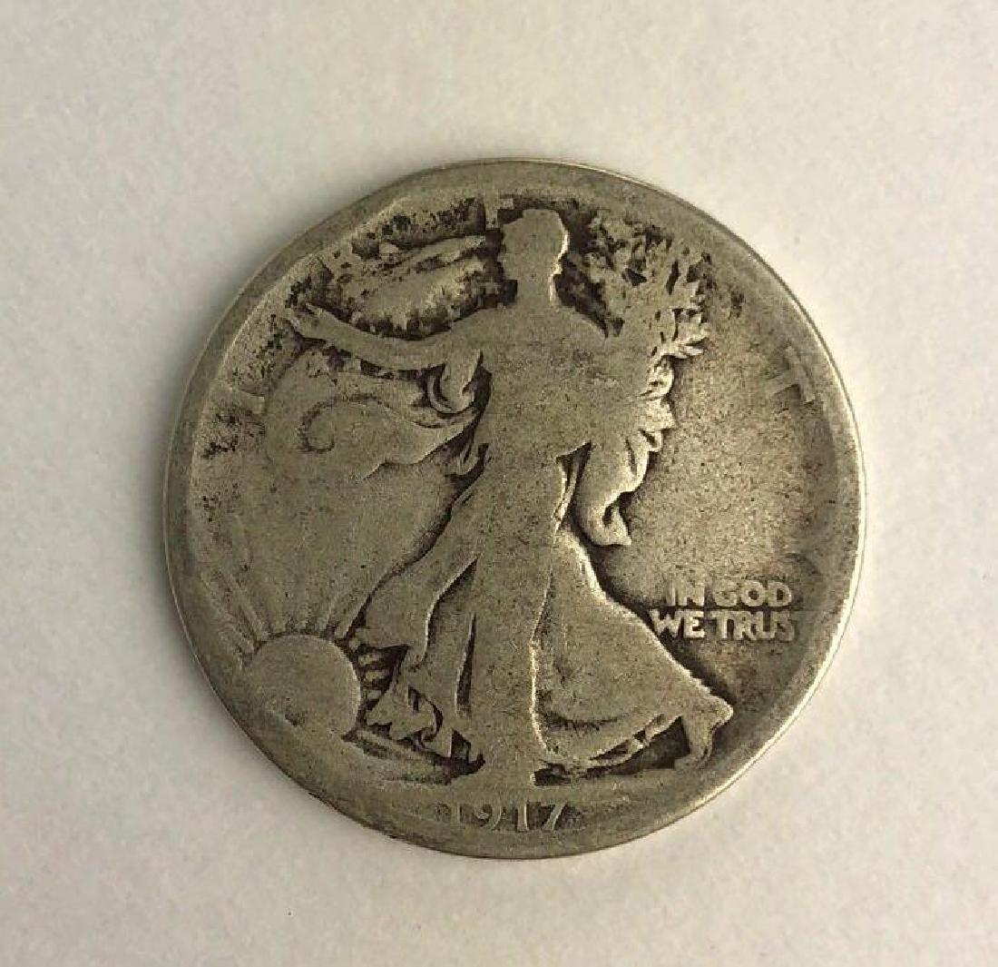 1917 Walking Liberty Half Dollar - 2