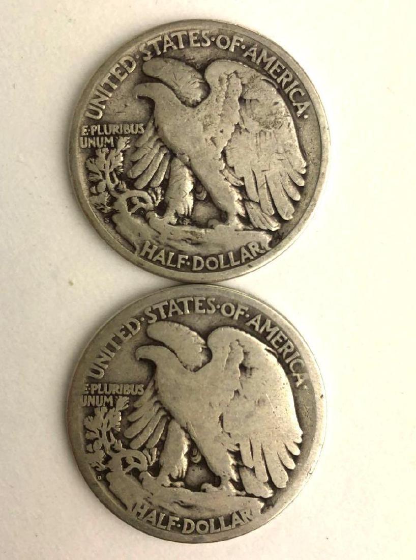 Lot of Two 1918 Walking Liberty Half Dollars - 2